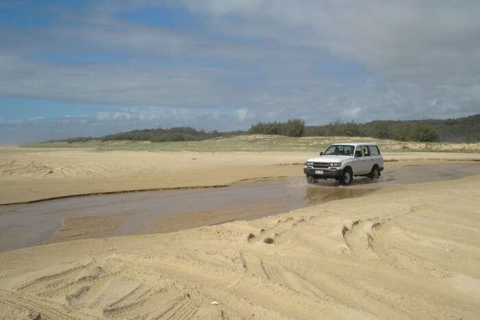 Drive through the shoreline
