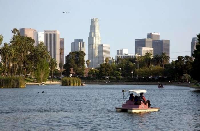 Boat and lake view