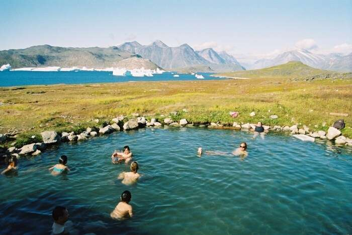 Enjoy the hot springs