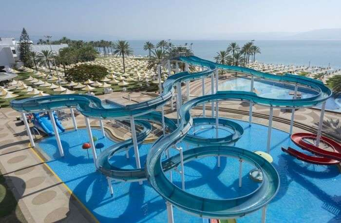 View of Gai Beach Water Park