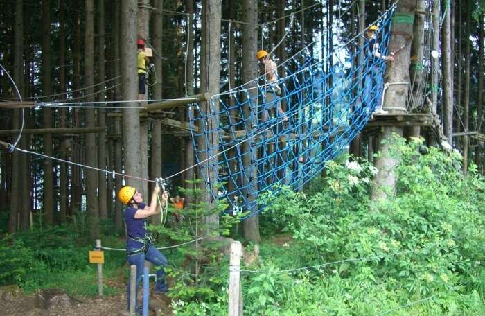 Climbing Forest Gruentensee High Ropes Course