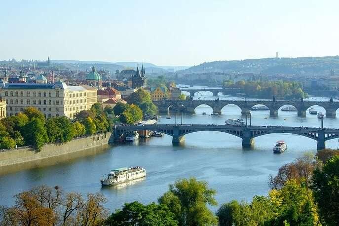 Bridges Charles Bridge Moldova Manes Bridge Prague