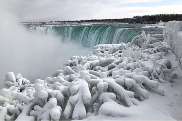 Instagram pic of frozen Niagara