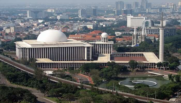 Famous mosque in Jakarta