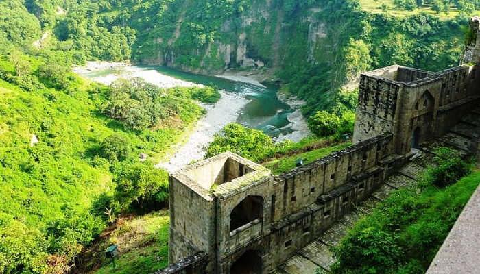 Kangra Fort Overlooking River