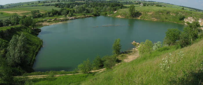 Lake Karwowo in Poland