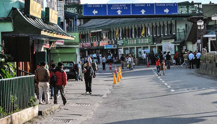 MG Road in Gangtok