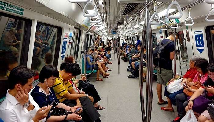Mrt Train Singapore Mass Rapid Transit