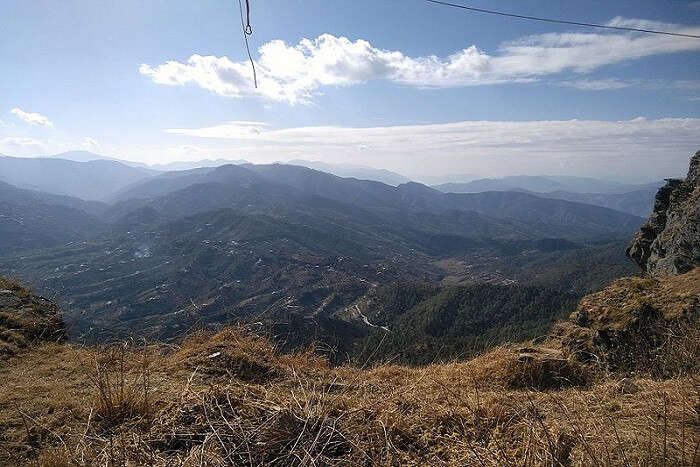 view from above in Mukteshwar