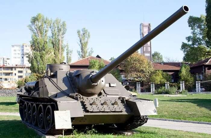 Military Tank View