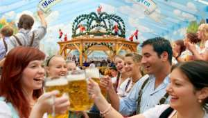 people at Oktoberfest Germany