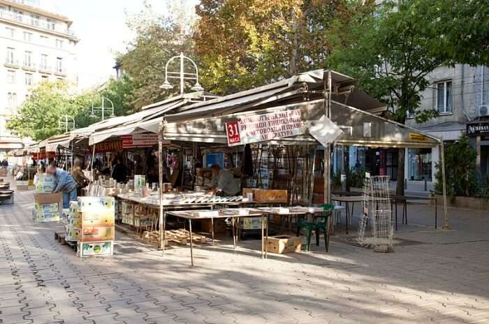 Open Air Book Market in Sofia