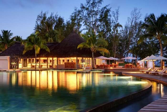 view of the resort in Mauritius