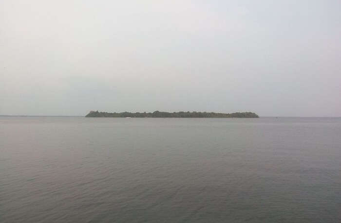 View Of Pathiramanal Island