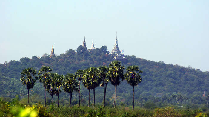 Phnom Udong in Cambodia