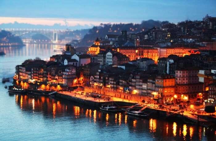 Porto view at night