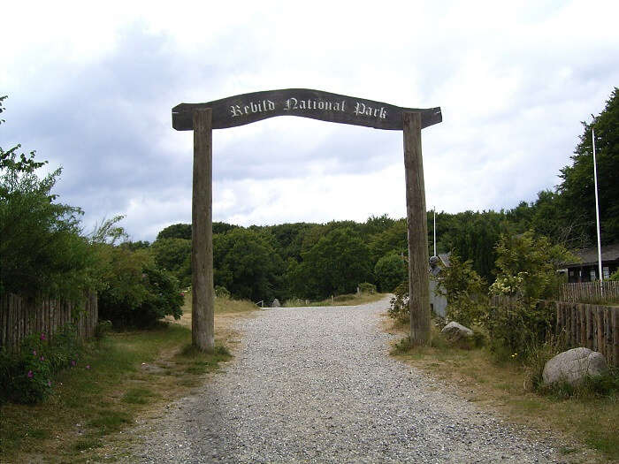 entrance to rebild national park
