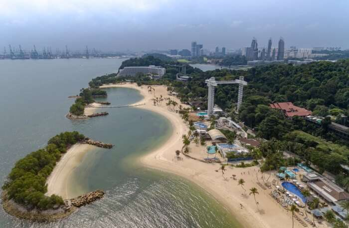Siloso Beach Sentosa island Singapore