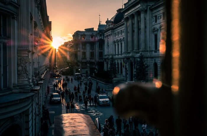 Sunset in the Old Town - Bucharest, Romania - Travel photography