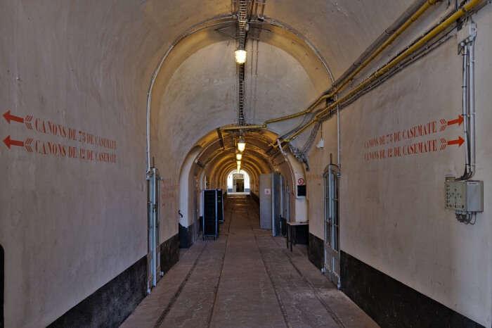 Main corridor of Fort Liezele (Puurs, Belgium)