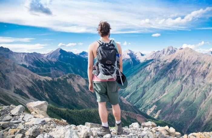 Edge of Mountain peak