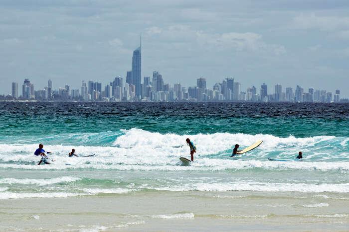 A beach at Gold Coast in Australia