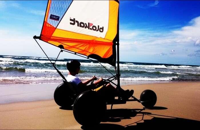 Wild Beach Single Handed Blokart Safari