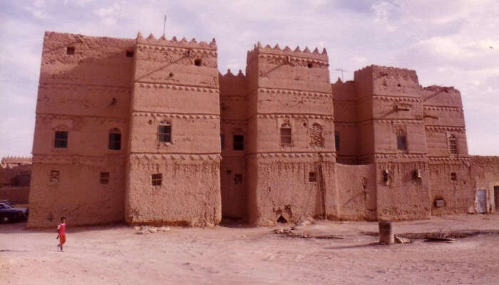 ancient fort in a desert