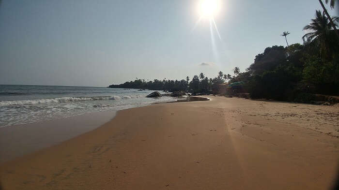 sun at patnem beach