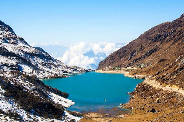View of lake in Sikkim