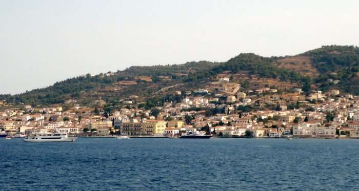 panoramic view of spetses