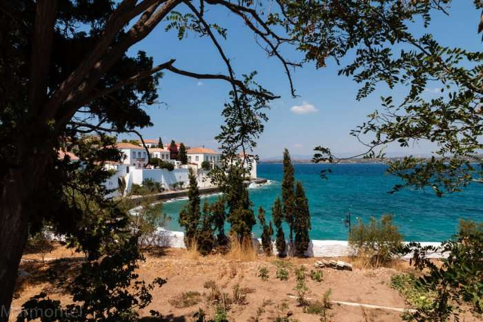 view of beach in spetses