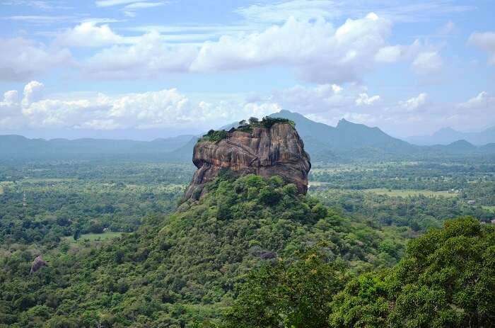 view of the rock fortress of Sigiriya