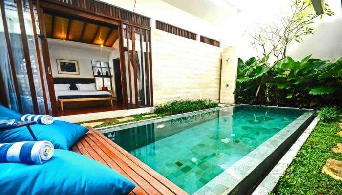pool in a villa