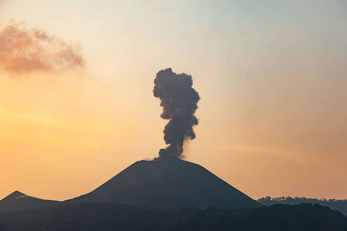 Barren island volcano