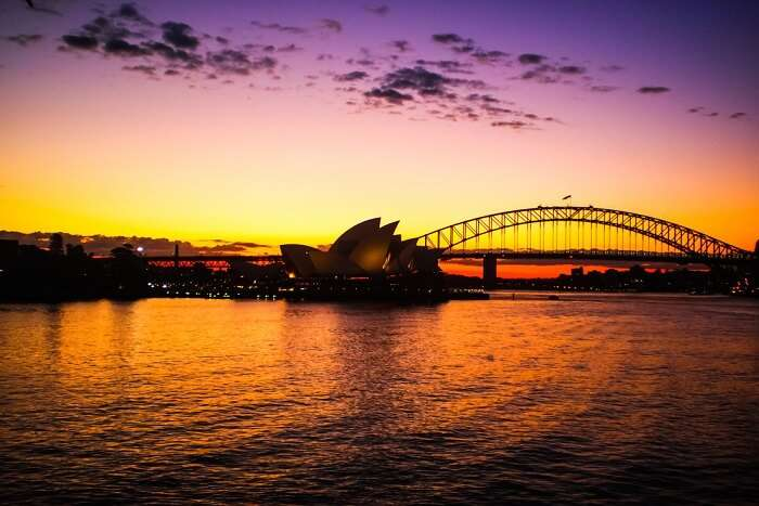 view of Sydney during sunset