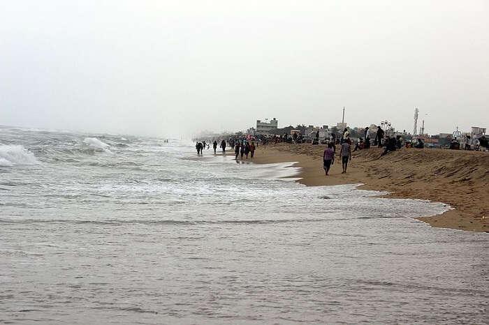 popular beach in Chennai