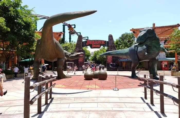 visiting to the Jurassic park