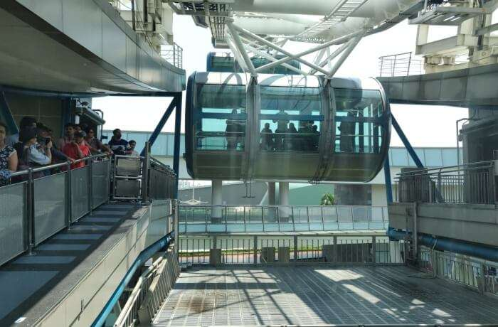 getting into the Singapore Flyer