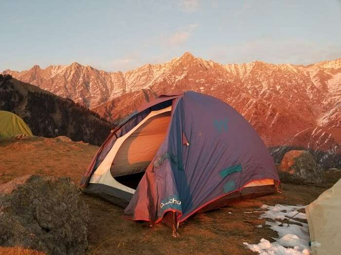 camp at the triund