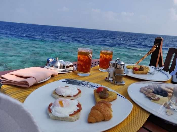had the breakfast with perfect beach view