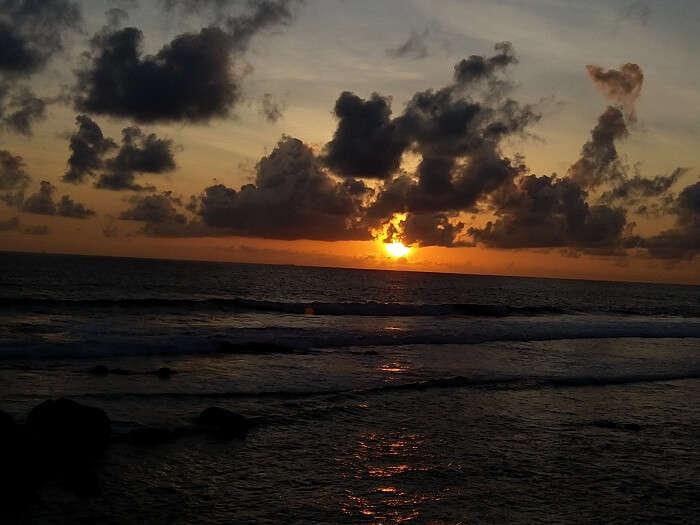 sunset view at the Mirissa beach