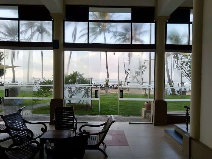 view inside from the resort