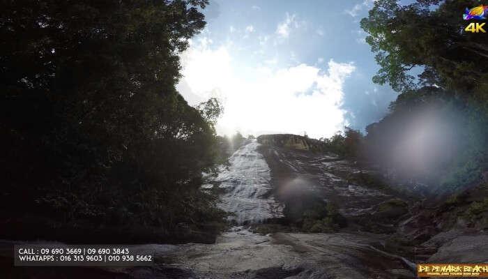 Jelawang Waterfall in Malaysia