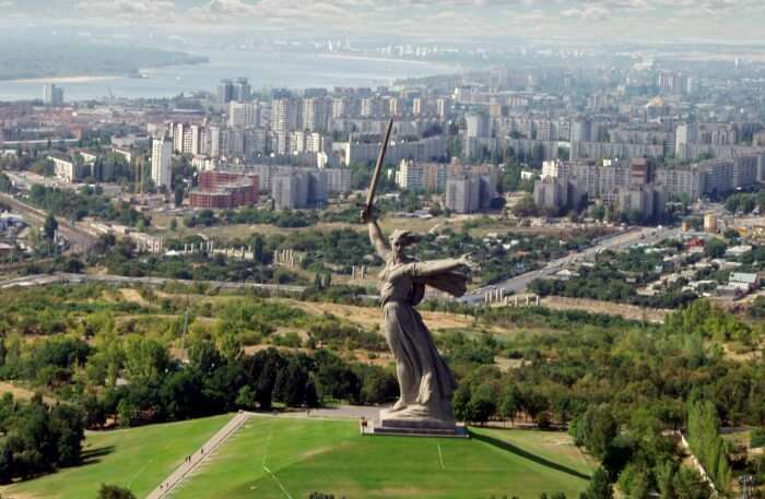 View of Mamayev Hill Monument