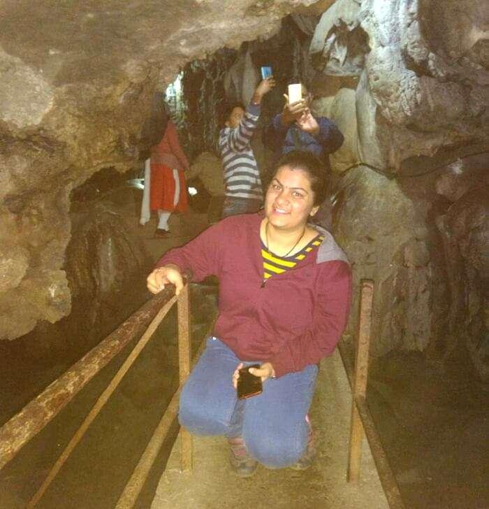taking a walk inside Mawsmai caves