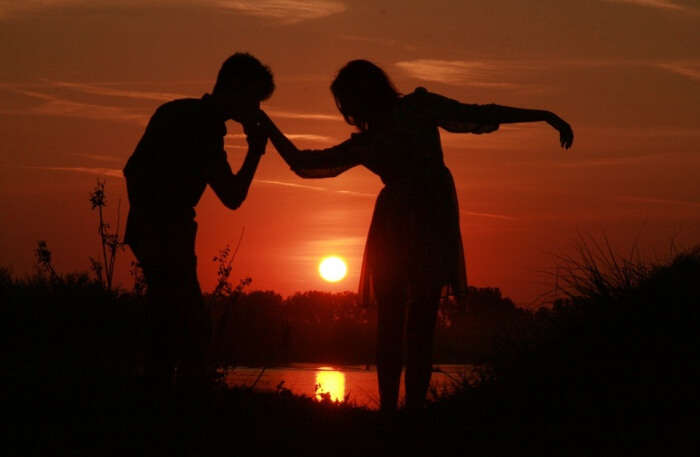 Water Sunset Love Romance Shadow Sun Couple