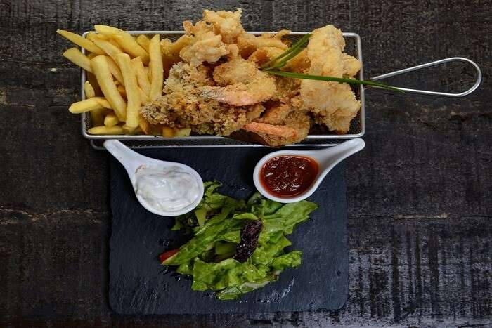 seafood in a plate