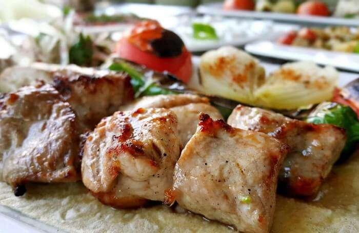 Turkish Cuisine Grill Kebab Food Presentation Kebab