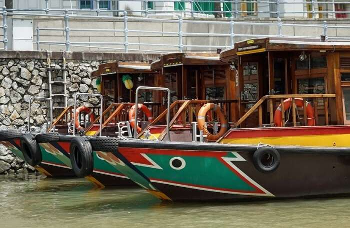 Singapore River Color Boats River Water